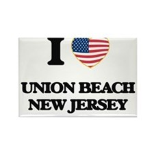 I love Union Beach New Jersey Magnets