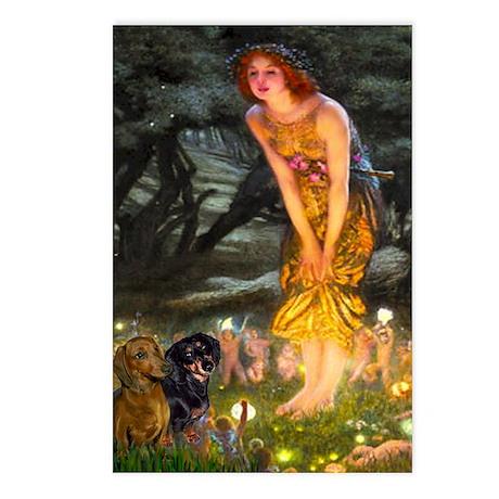 Midsummer's Eve & Dachshund Pair Postcards (Packag
