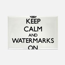 Keep Calm and Watermarks ON Magnets