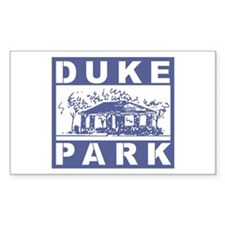 Duke Park Rectangle Decal