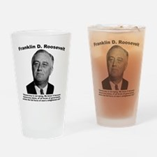 FDR: Democracy Drinking Glass