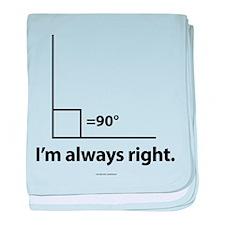 I'm Always Right Math baby blanket