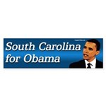 South Carolina for Obama bumper sticker