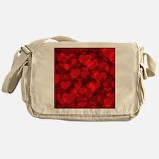 Red Heart Bokeh Messenger Bag