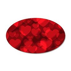 Red Heart Bokeh Wall Decal