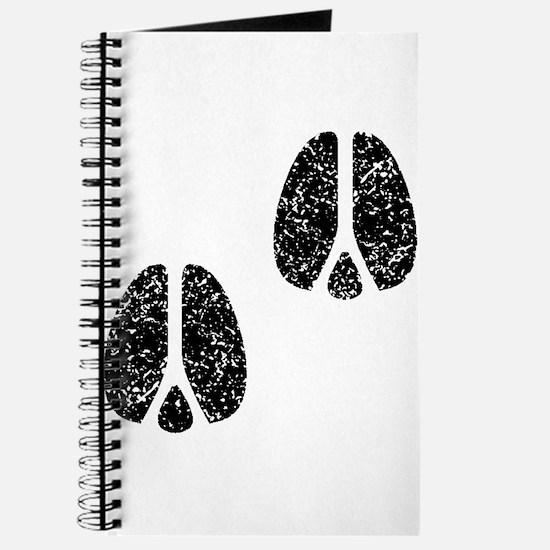 Distressed Hoofprints Silhouette Journal