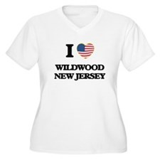 I love Wildwood New Jersey Plus Size T-Shirt
