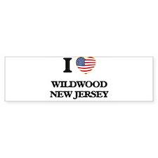 I love Wildwood New Jersey Bumper Bumper Sticker