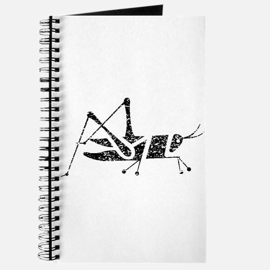 Distressed Grasshopper Silhouette Journal