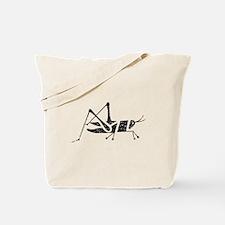 Distressed Grasshopper Silhouette Tote Bag