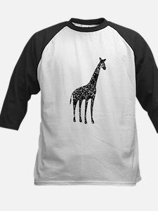 Distressed Giraffe Silhouette Baseball Jersey