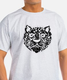 Distressed Leopard Face Silhouette T-Shirt