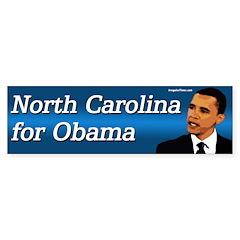 North Carolina for Obama bumper sticker