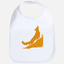 Distressed Orange Wolf Bib