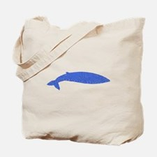 Distressed Blue Whale Tote Bag