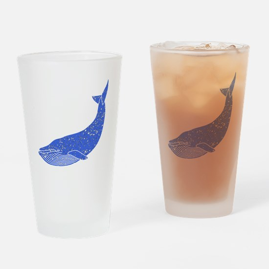 Distressed Blue Blue Whale Drinking Glass