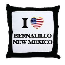 I love Bernalillo New Mexico Throw Pillow