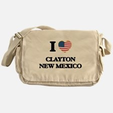 I love Clayton New Mexico Messenger Bag