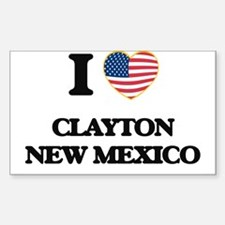 I love Clayton New Mexico Decal