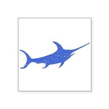 Distressed Blue Swordfish Sticker