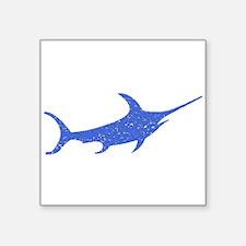 Distressed Blue Swordfish Sticker