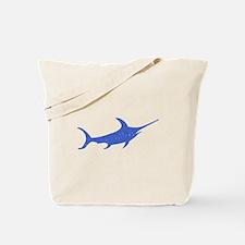 Distressed Blue Swordfish Tote Bag