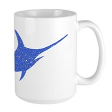 Distressed Blue Swordfish Mugs