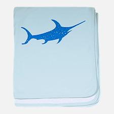 Distressed Blue Swordfish baby blanket