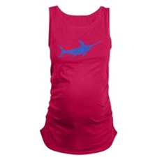 Distressed Blue Swordfish Maternity Tank Top