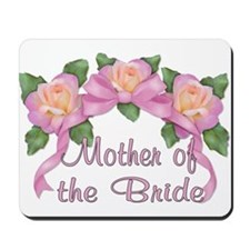 Rose Ribbons - Mother of the Bride Mousepad