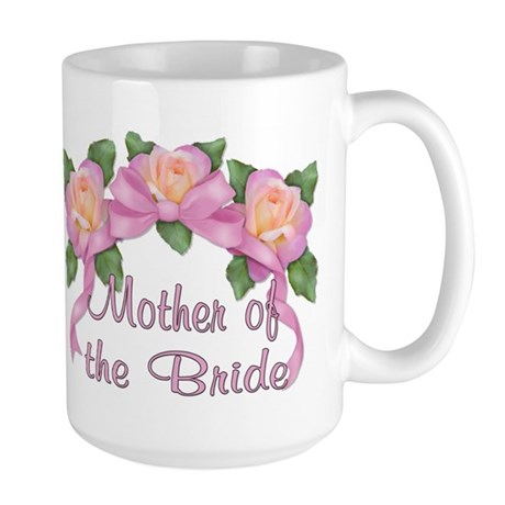 Rose Ribbons - Mother of the Bride Large Mug
