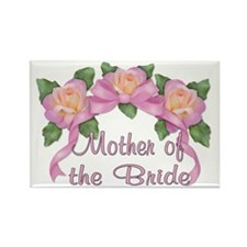 Rose Ribbons - Mother of the Bride Rectangle Magne