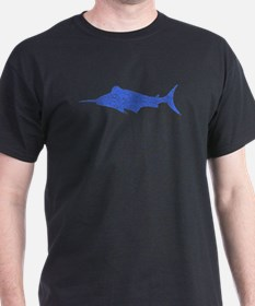 Distressed Blue Swordfish T-Shirt