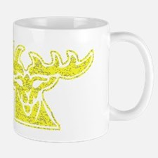 Distressed Yellow Stag Mugs