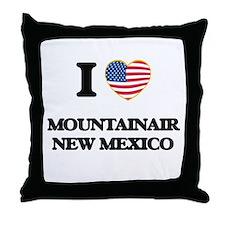 I love Mountainair New Mexico Throw Pillow