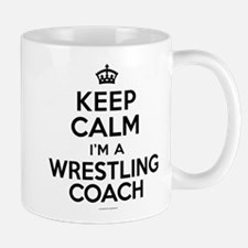 Keep Calm Wrestling Coach Mugs