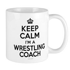 Keep Calm Wrestling Coach Mugs