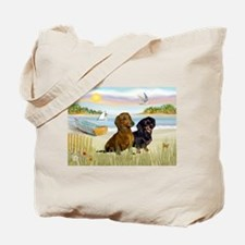 Rowboat & Dachshund Pair Tote Bag