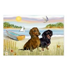 Rowboat & Dachshund Pair Postcards (Package of 8)