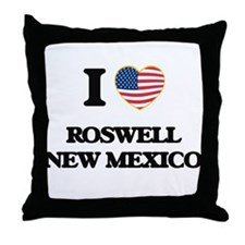 I love Roswell New Mexico Throw Pillow