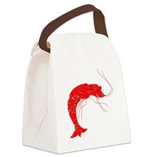 Distressed Red Shrimp Canvas Lunch Bag
