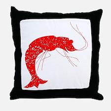 Distressed Red Shrimp Throw Pillow