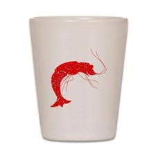 Distressed Red Shrimp Shot Glass