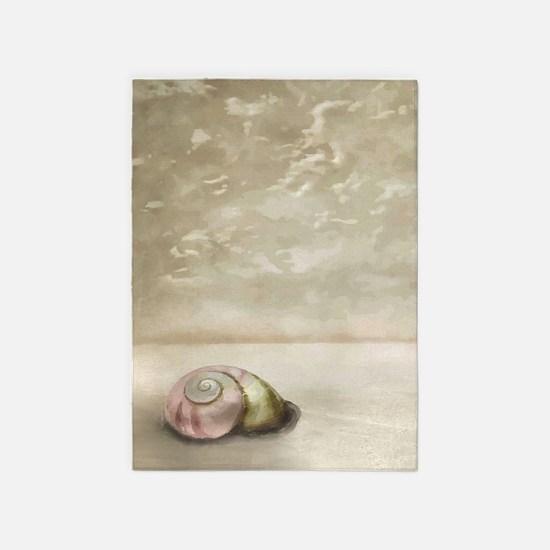 Seashell on the Beach 5'x7'Area Rug