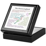 Hummingbird Square Keepsake Boxes