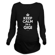 Keep Calm I'm a Gigi Long Sleeve Maternity T-Shirt