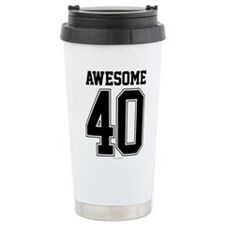Awesome 40 Birthday Ath Travel Mug