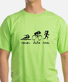 Swim Bike Run (Girl) T-Shirt