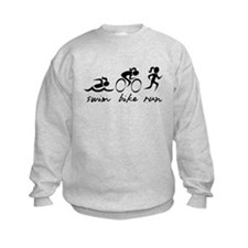 Swim Bike Run (Girl) Sweatshirt