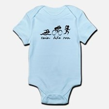 Swim Bike Run (Girl) Body Suit